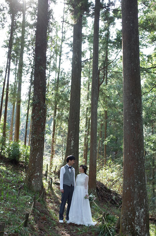 森のフォトウエディング